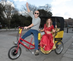 Madeline Mulqueen strolls around Dublin in Eco-Friendly Promotional Vehicles